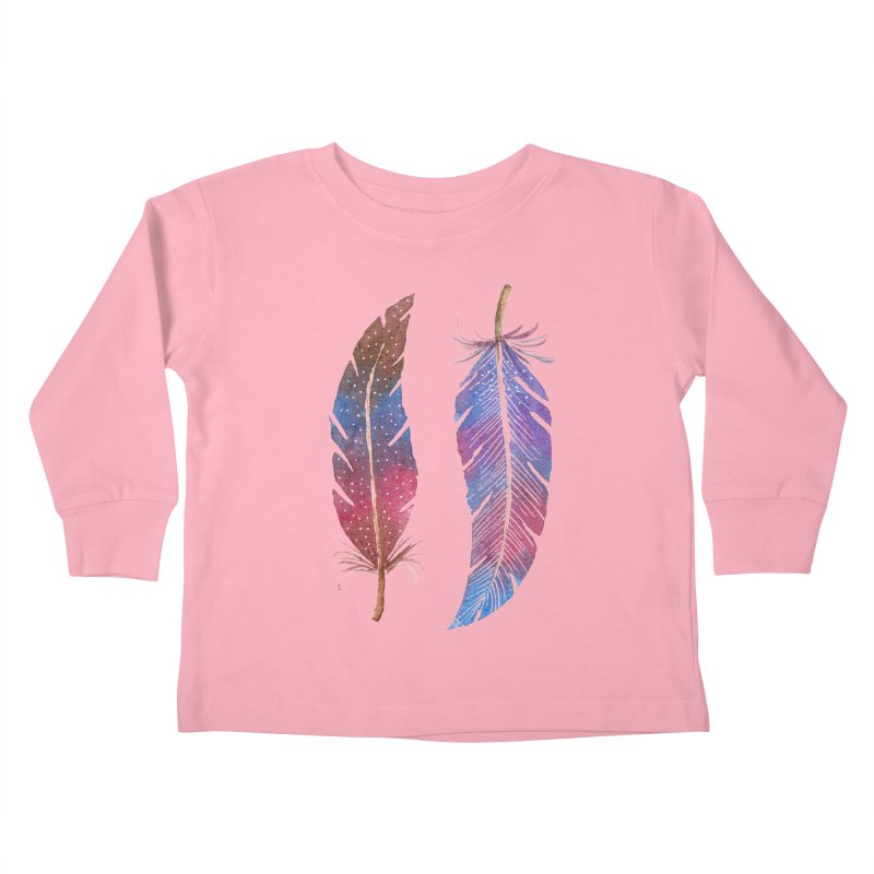 Feathers Kids Toddler Longsleeve T-Shirt by milenabdesign's Artist Shop