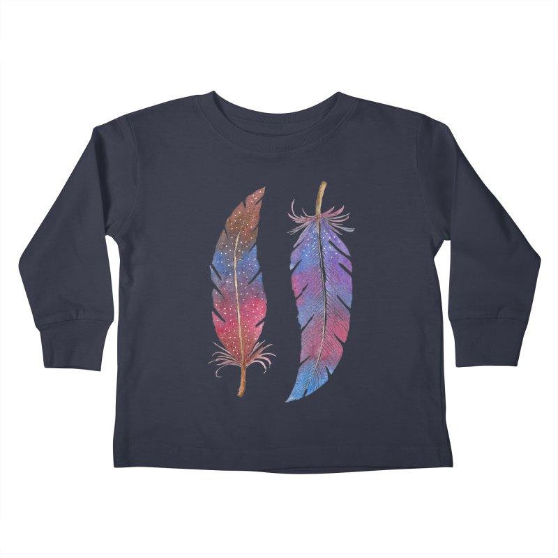 Feathers Kids Toddler Longsleeve T-Shirt by milenabdesign's Artist Shop