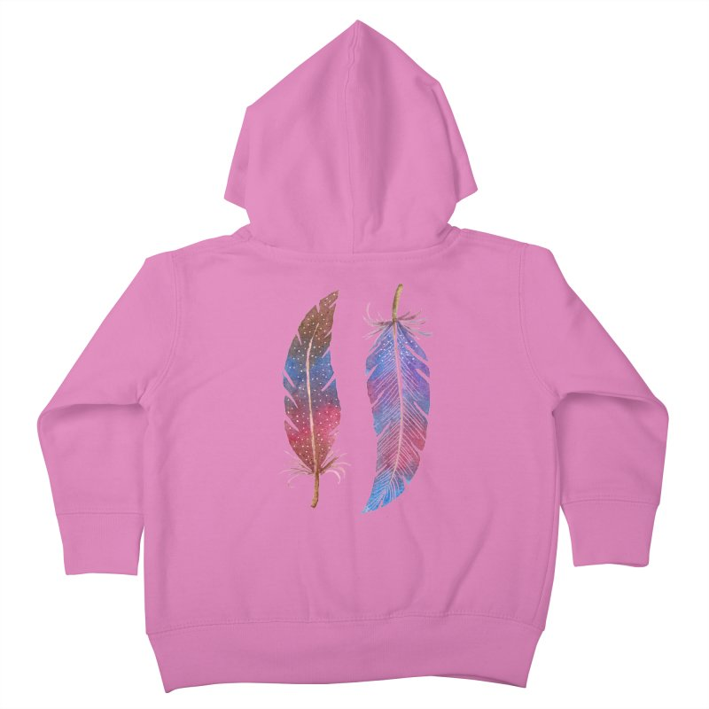 Feathers Kids Toddler Zip-Up Hoody by milenabdesign's Artist Shop