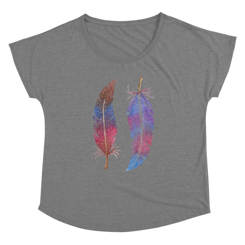 Feathers Women's Dolman Scoop Neck by milenabdesign's Artist Shop