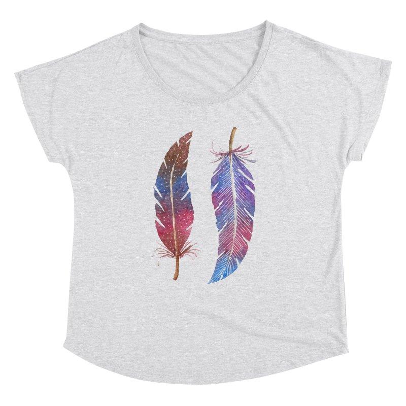 Feathers Women's Dolman Scoop Neck by milenabdesign's Artist Shop