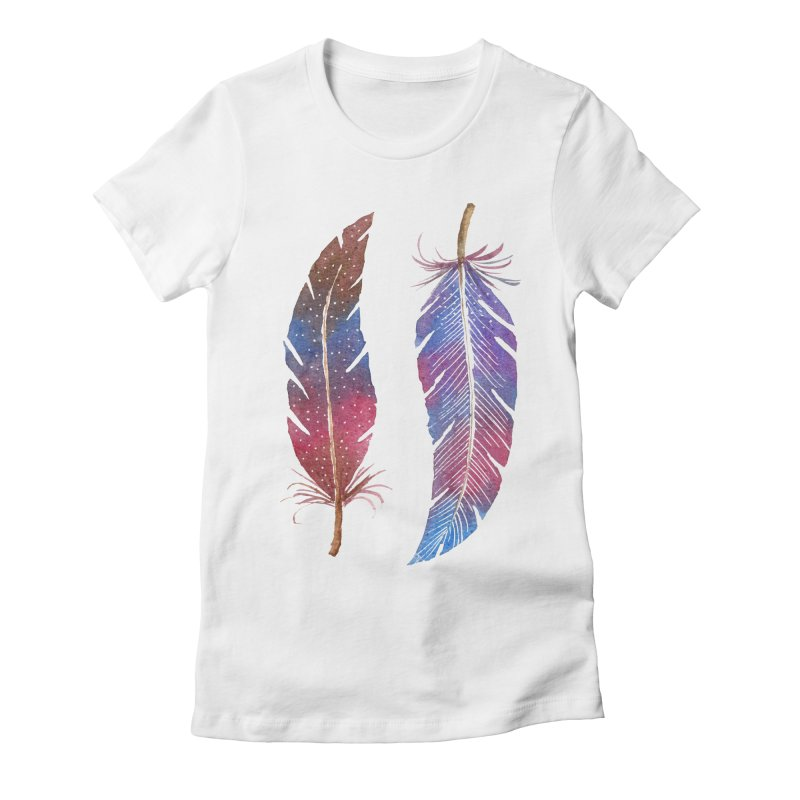 Feathers Women's T-Shirt by milenabdesign's Artist Shop