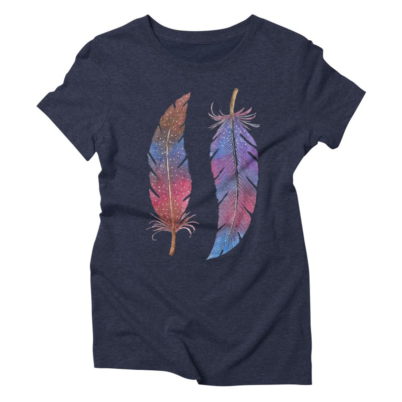 Feathers Women's Triblend T-Shirt by milenabdesign's Artist Shop
