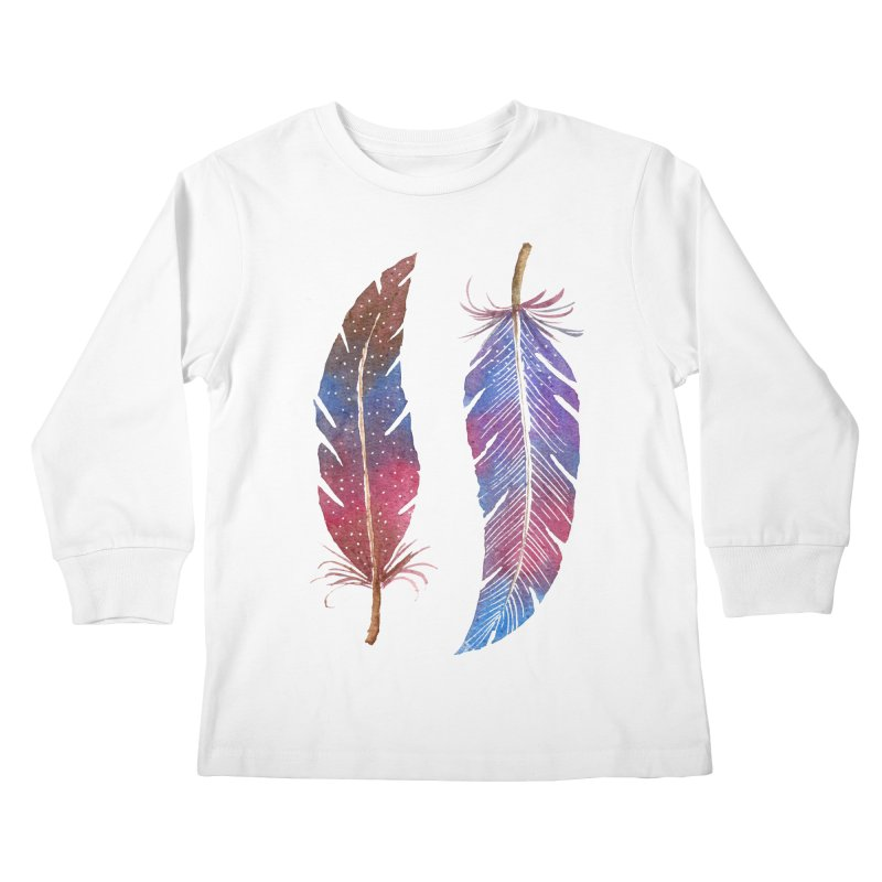 Feathers Kids Longsleeve T-Shirt by milenabdesign's Artist Shop