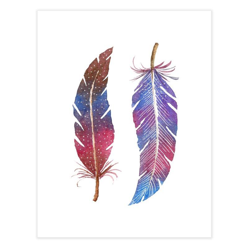 Feathers Home Fine Art Print by milenabdesign's Artist Shop