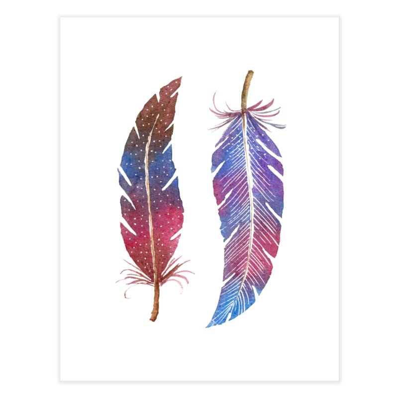 Feathers Home Fine Art Print by milenabdesign's Artist Shop