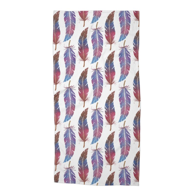Feathers Pattern Accessories Beach Towel by milenabdesign's Artist Shop