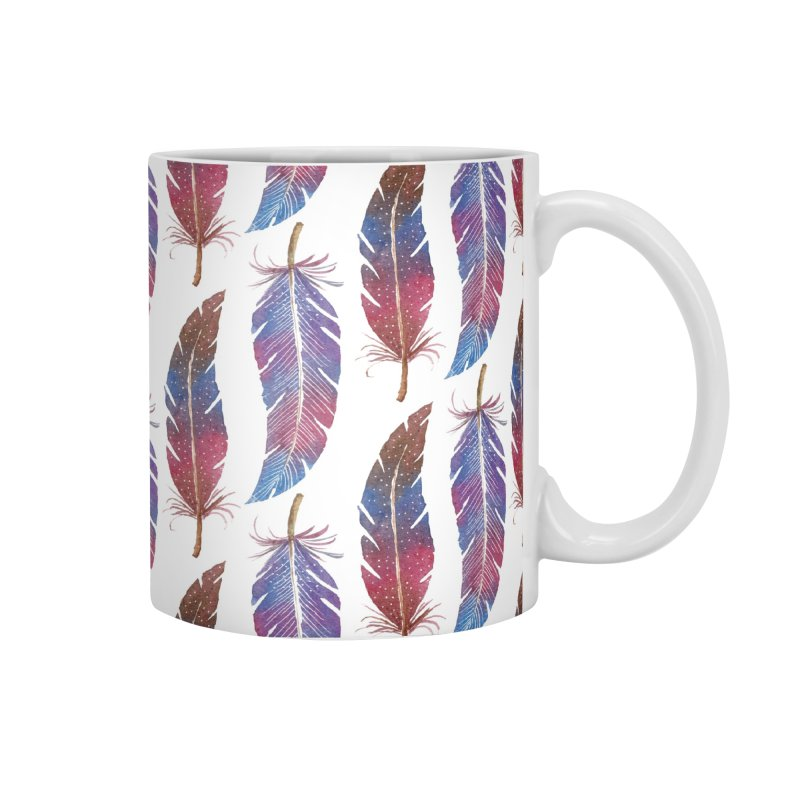 Feathers Pattern Accessories Mug by milenabdesign's Artist Shop