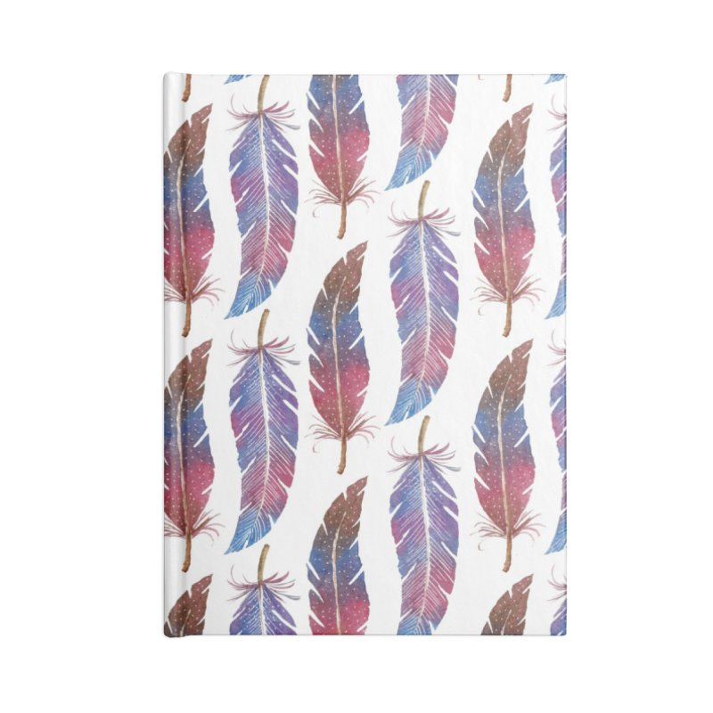 Feathers Pattern Accessories Notebook by milenabdesign's Artist Shop