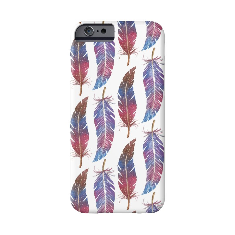 Feathers Pattern Accessories Phone Case by milenabdesign's Artist Shop