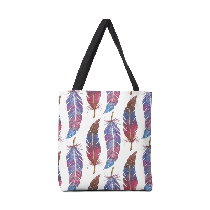Feathers Pattern Accessories Tote Bag Bag by milenabdesign's Artist Shop