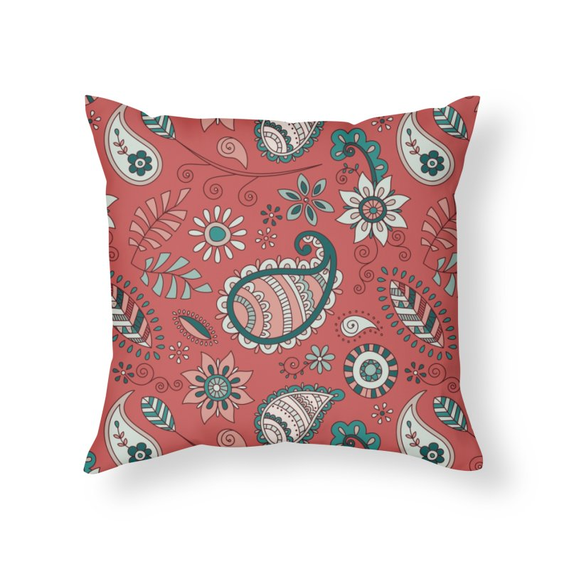 Paisley Doodles Home Throw Pillow by milenabdesign's Artist Shop