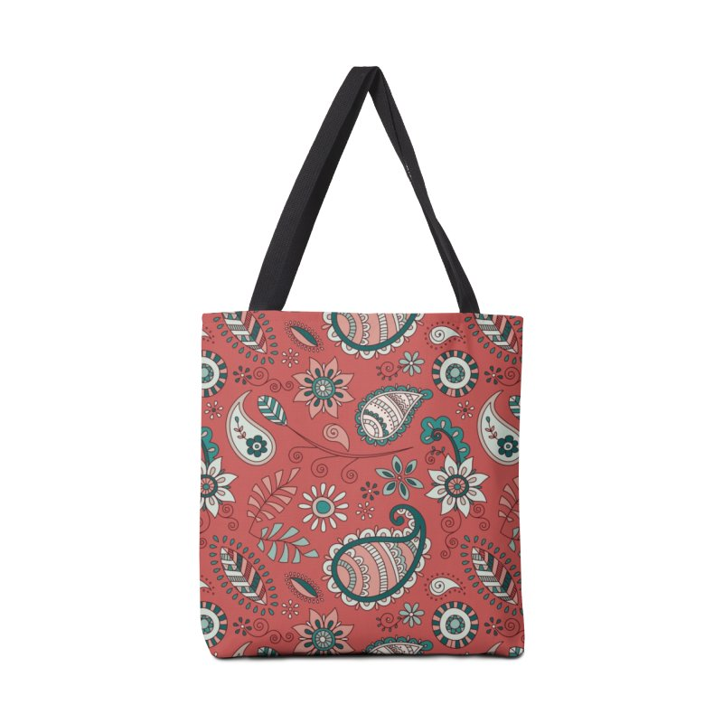 Paisley Doodles Accessories Tote Bag Bag by milenabdesign's Artist Shop