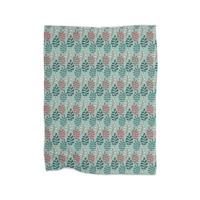 Paisley Leaves Home Blanket by milenabdesign's Artist Shop