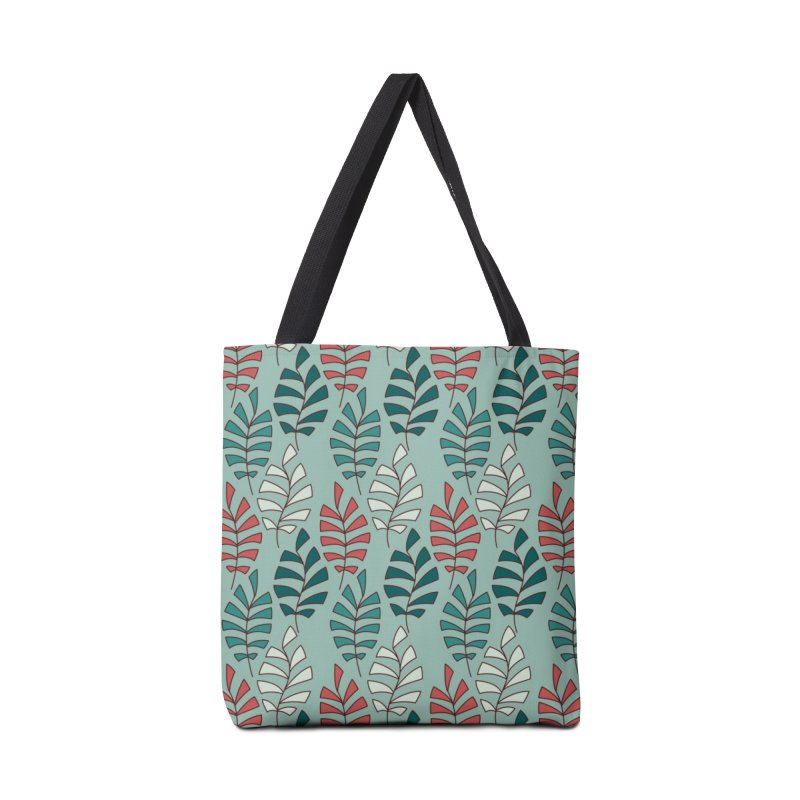 Paisley Leaves Accessories Tote Bag Bag by milenabdesign's Artist Shop