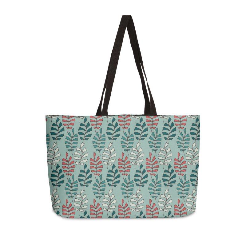 Paisley Leaves Accessories Bag by milenabdesign's Artist Shop