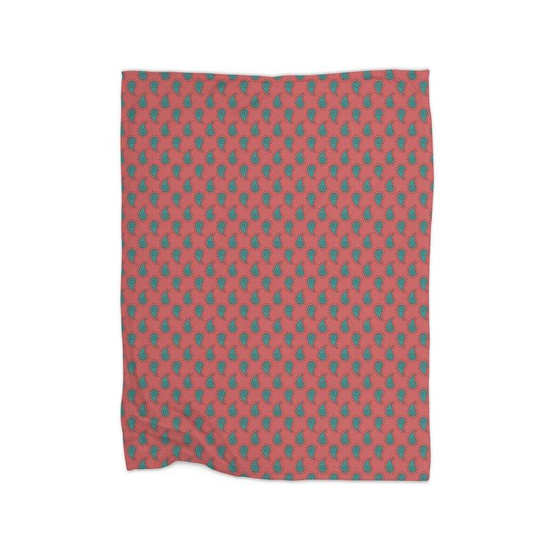 Paisley Drops Home Blanket by milenabdesign's Artist Shop