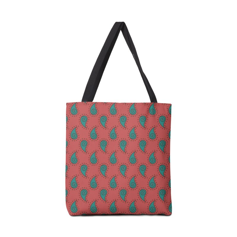 Paisley Drops Accessories Tote Bag Bag by milenabdesign's Artist Shop