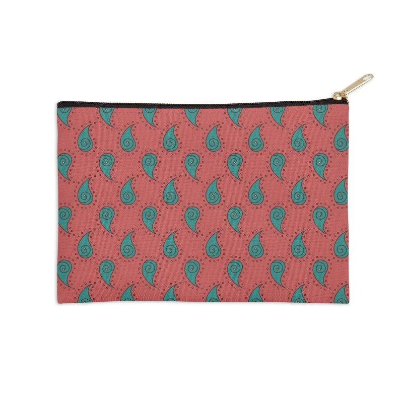Paisley Drops Accessories Zip Pouch by milenabdesign's Artist Shop