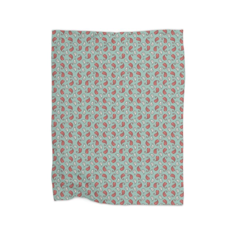 Paisley Candy Drops Home Blanket by milenabdesign's Artist Shop