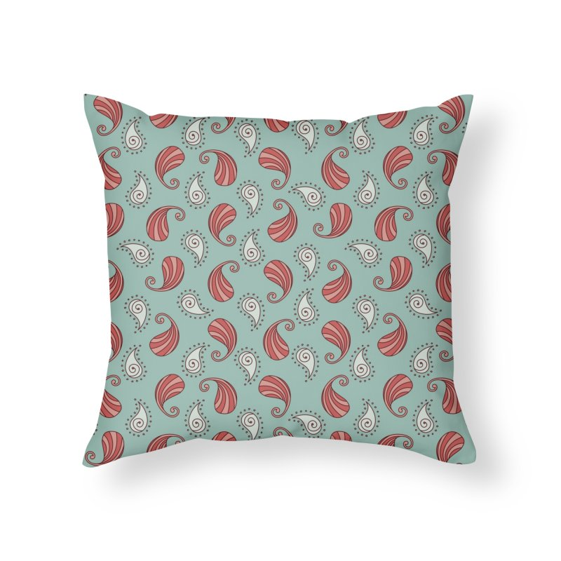 Paisley Candy Drops Home Throw Pillow by milenabdesign's Artist Shop