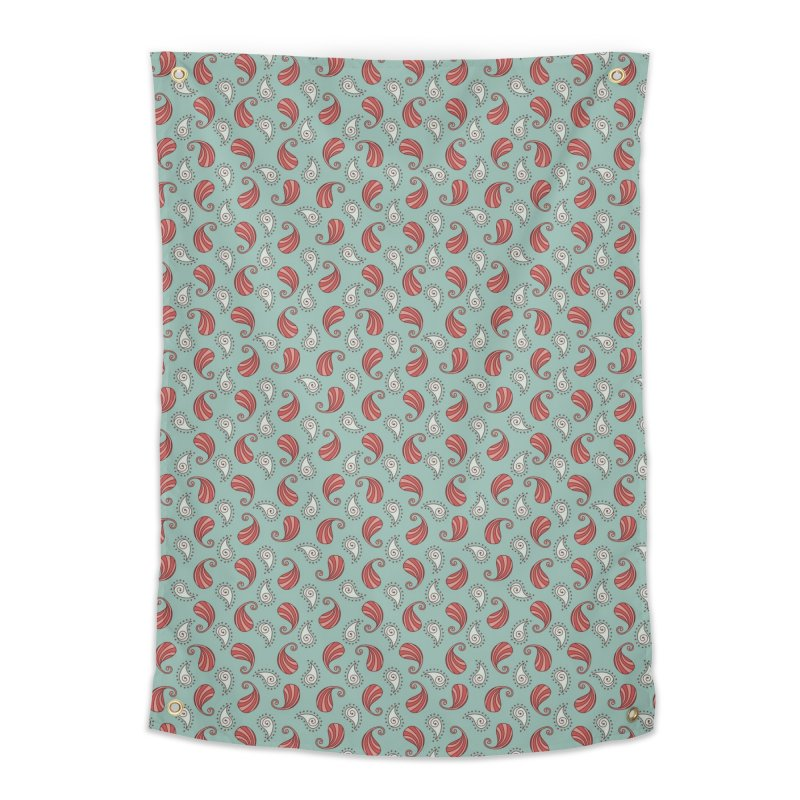 Paisley Candy Drops Home Tapestry by milenabdesign's Artist Shop
