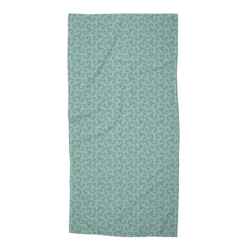 Paisley Wind Accessories Beach Towel by milenabdesign's Artist Shop