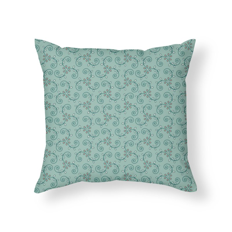 Paisley Wind Home Throw Pillow by milenabdesign's Artist Shop