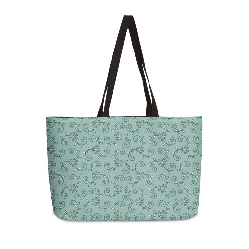 Paisley Wind Accessories Weekender Bag Bag by milenabdesign's Artist Shop