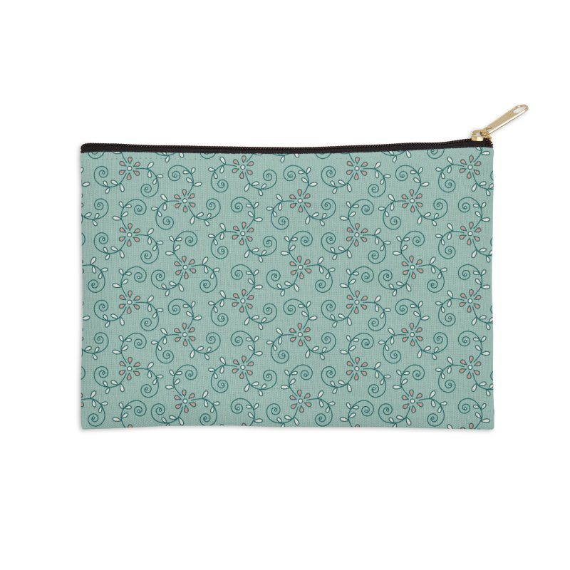 Paisley Wind Accessories Zip Pouch by milenabdesign's Artist Shop