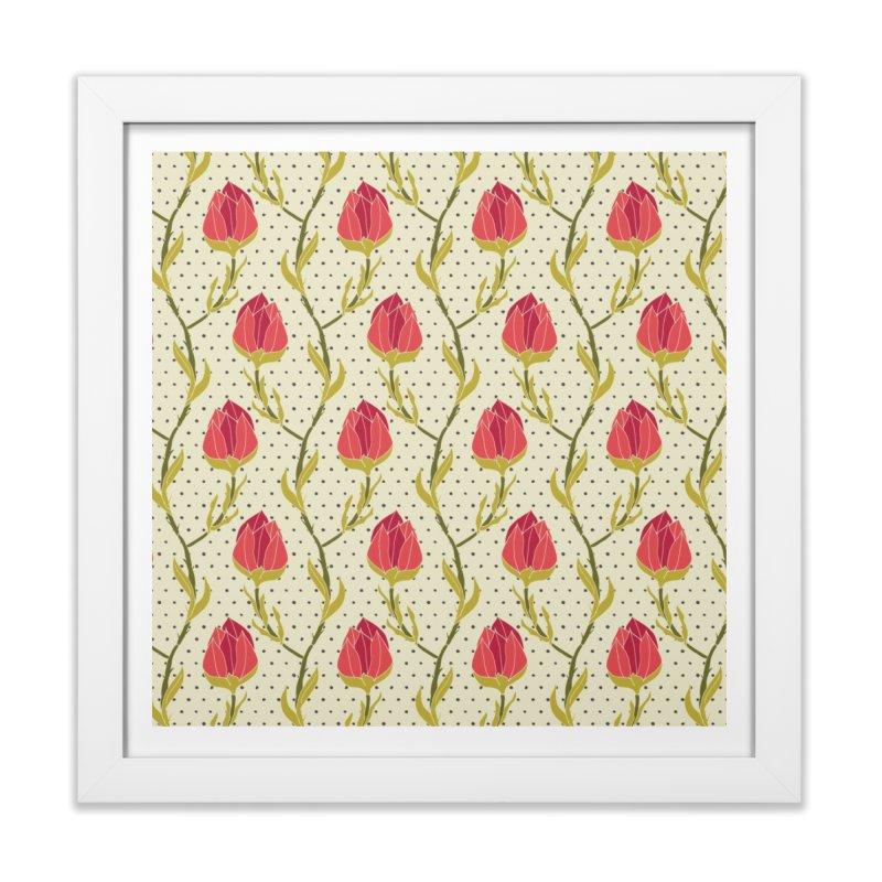 Sylvan Chains in Framed Fine Art Print White by milenabdesign's Artist Shop