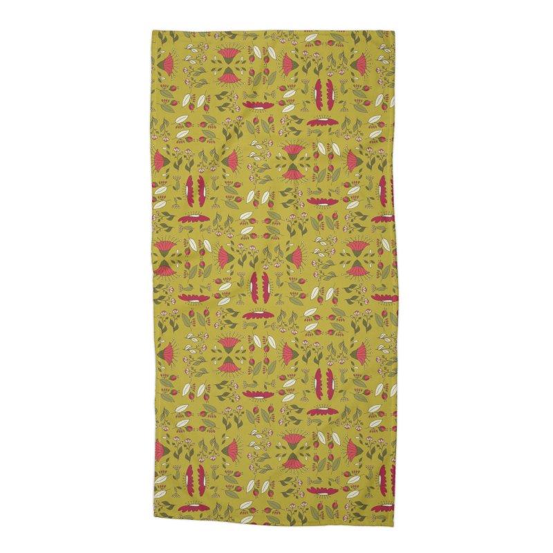 Sylvan Army Accessories Beach Towel by milenabdesign's Artist Shop