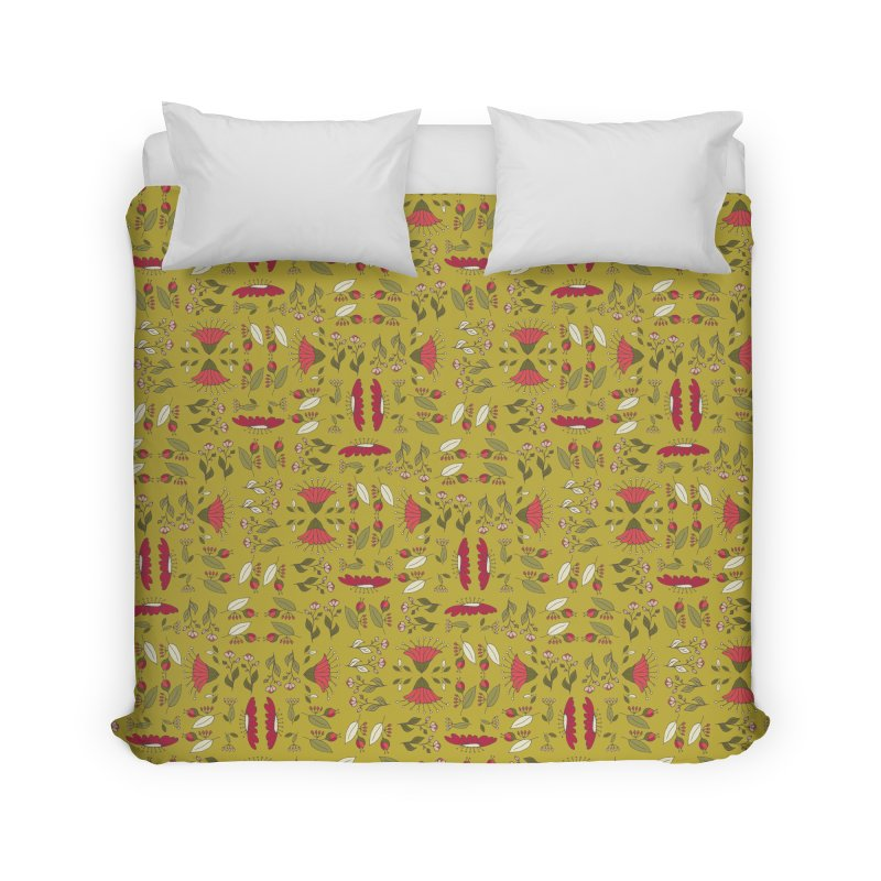 Sylvan Army Home Duvet by milenabdesign's Artist Shop