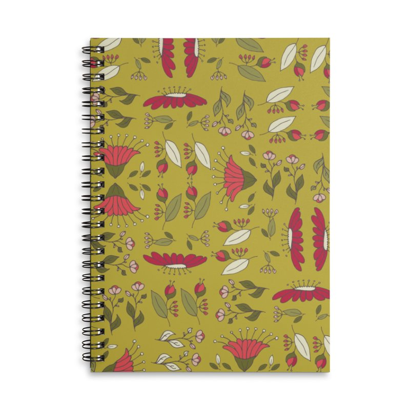 Sylvan Army Accessories Lined Spiral Notebook by milenabdesign's Artist Shop