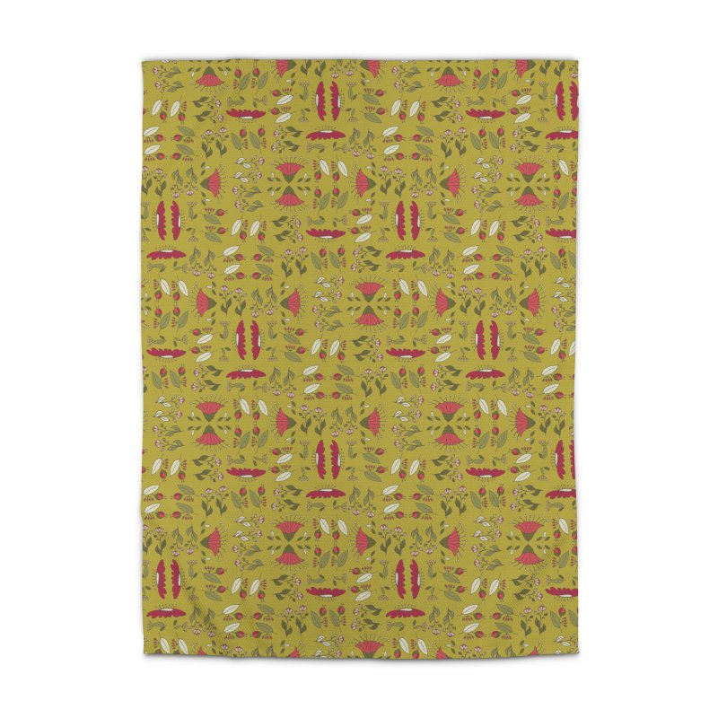 Sylvan Army Home Rug by milenabdesign's Artist Shop