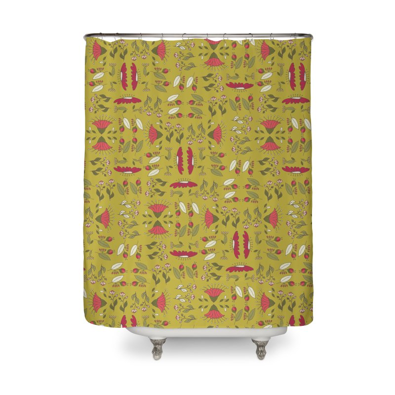 Sylvan Army Home Shower Curtain by milenabdesign's Artist Shop