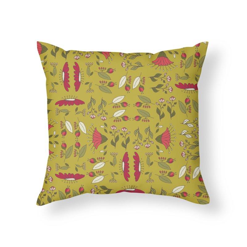 Sylvan Army Home Throw Pillow by milenabdesign's Artist Shop