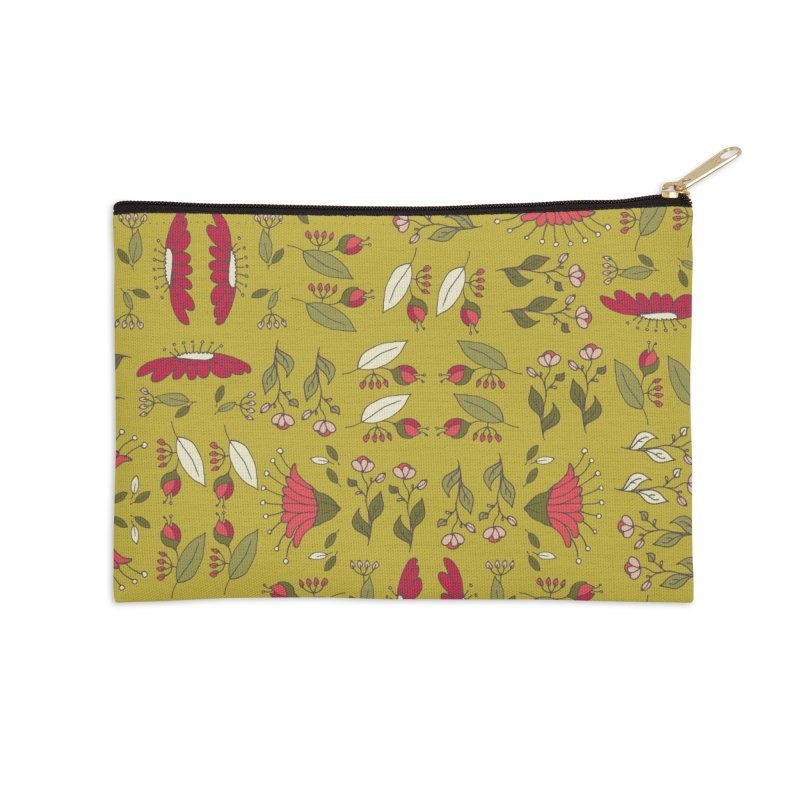 Sylvan Army Accessories Zip Pouch by milenabdesign's Artist Shop
