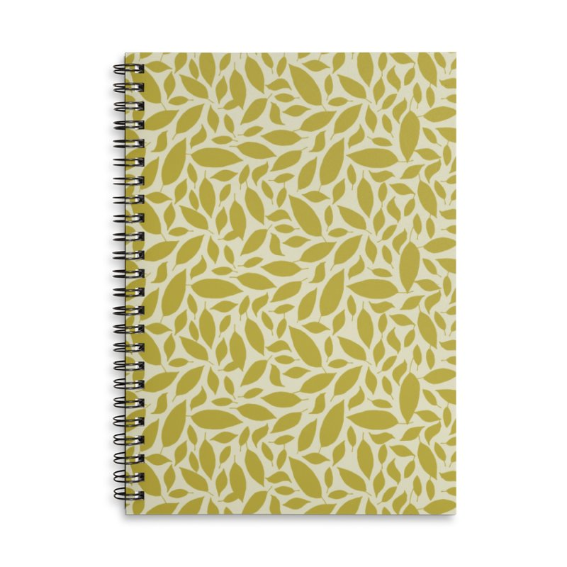 Sylvan Gold Accessories Lined Spiral Notebook by milenabdesign's Artist Shop
