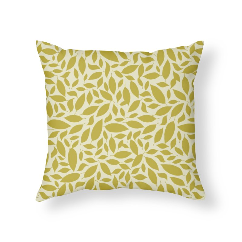 Sylvan Gold Home Throw Pillow by milenabdesign's Artist Shop