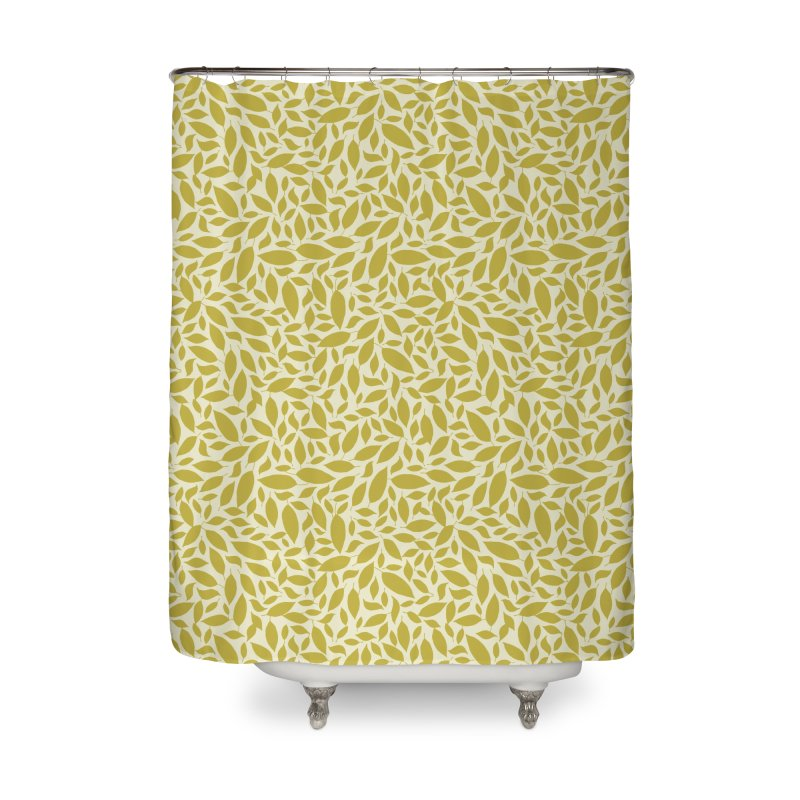 Sylvan Gold Home Shower Curtain by milenabdesign's Artist Shop