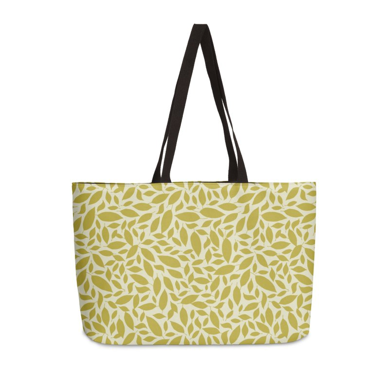 Sylvan Gold Accessories Weekender Bag Bag by milenabdesign's Artist Shop