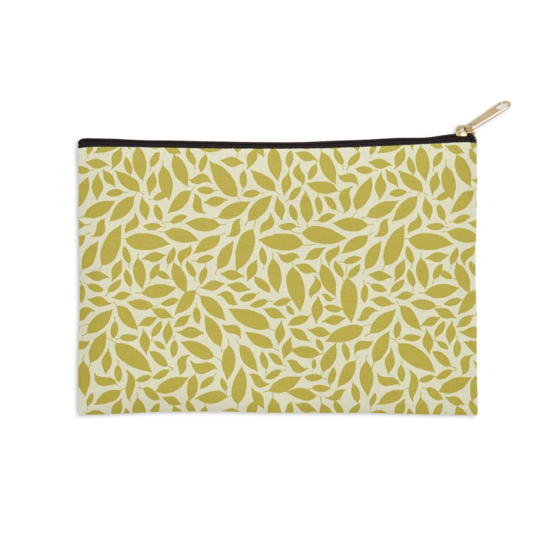 Sylvan Gold Accessories Zip Pouch by milenabdesign's Artist Shop