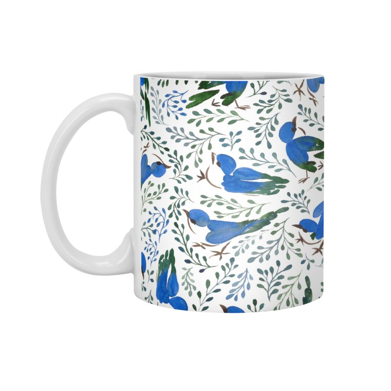 Birds in Summer Accessories Mug by milenabdesign's Artist Shop