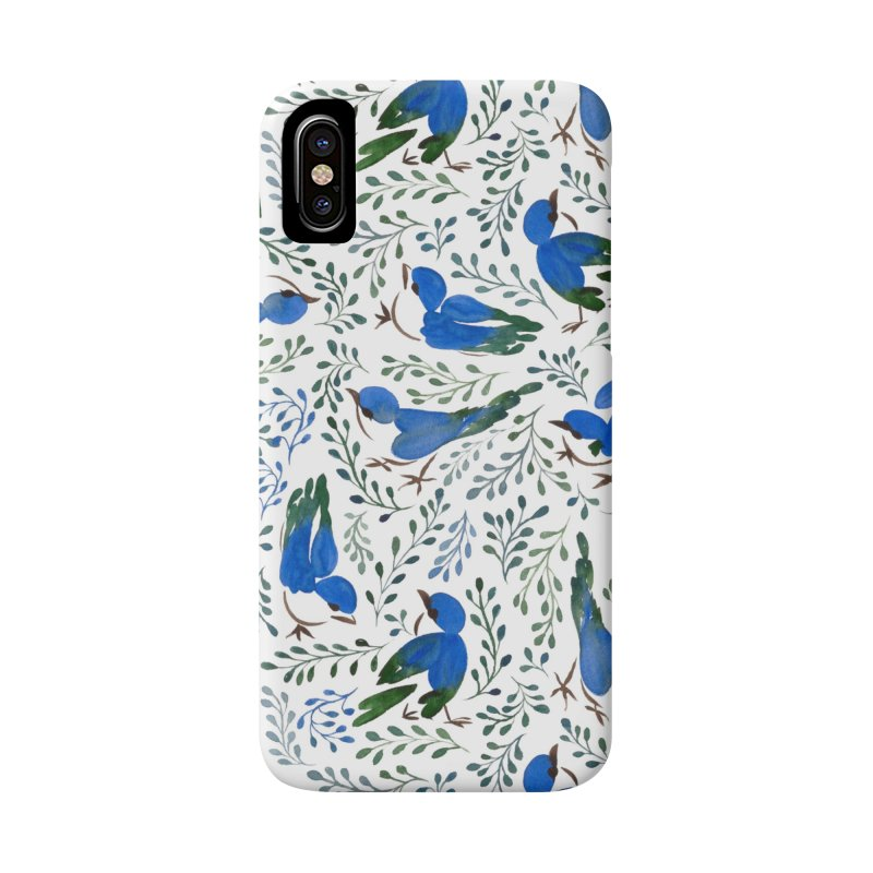 Birds in Summer Accessories Phone Case by milenabdesign's Artist Shop