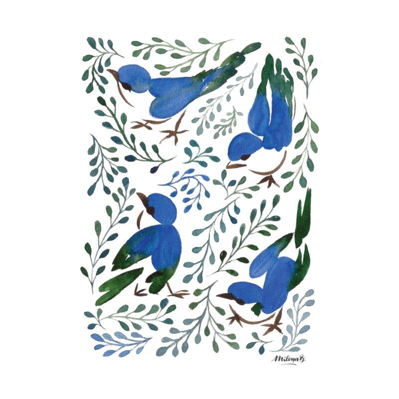 Birds in Summer Men's Longsleeve T-Shirt by milenabdesign's Artist Shop