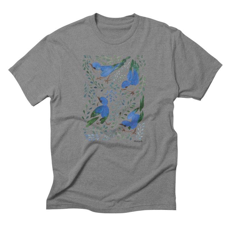 Birds in Summer Men's T-Shirt by milenabdesign's Artist Shop