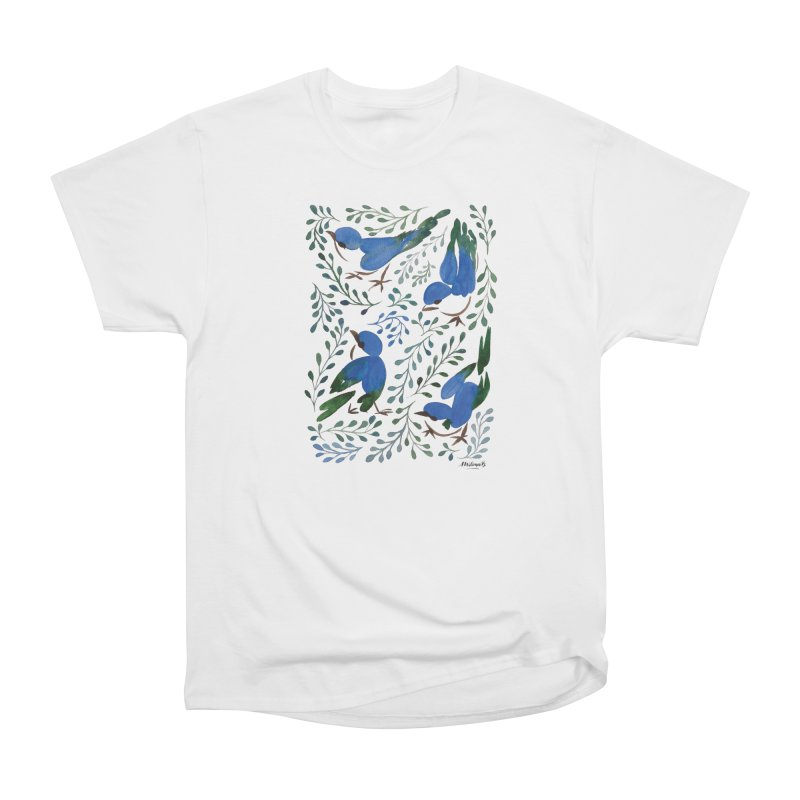 Birds in Summer Women's T-Shirt by milenabdesign's Artist Shop