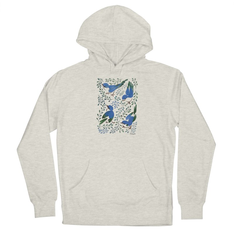 Birds in Summer Men's French Terry Pullover Hoody by milenabdesign's Artist Shop