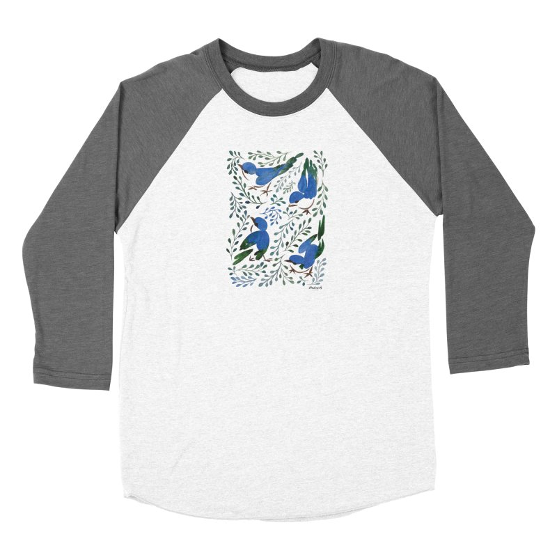 Birds in Summer Women's Longsleeve T-Shirt by milenabdesign's Artist Shop